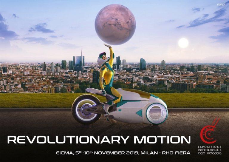 Affiche du Salon de l'Eicma 2019, Milan, Italie