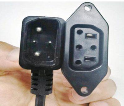 Super Soco Adaptateur prise carré (V1) vers ronde (V2) vue