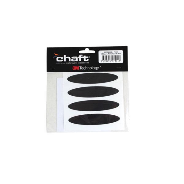 Chaft Stickers réfléchissants pour casque noir